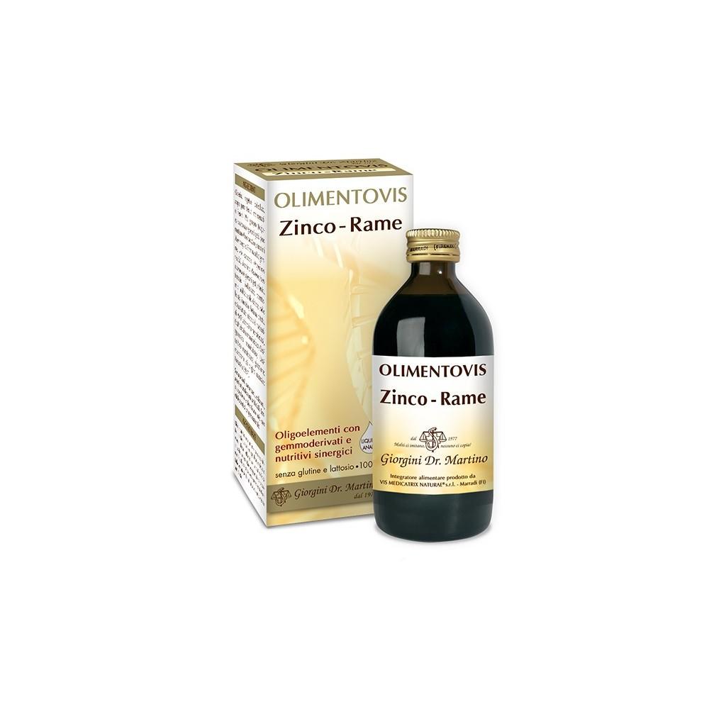 Zinco Rame Olimentovis Liquido analcoolico - www.AntiAgeBoutique.com