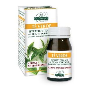 Monocomponenti Erbe Tè Verde Estratto Titolato al 98% in polifenoli, di cui 40% epigallocatechingallato Pastiglie - www.AntiAgeB